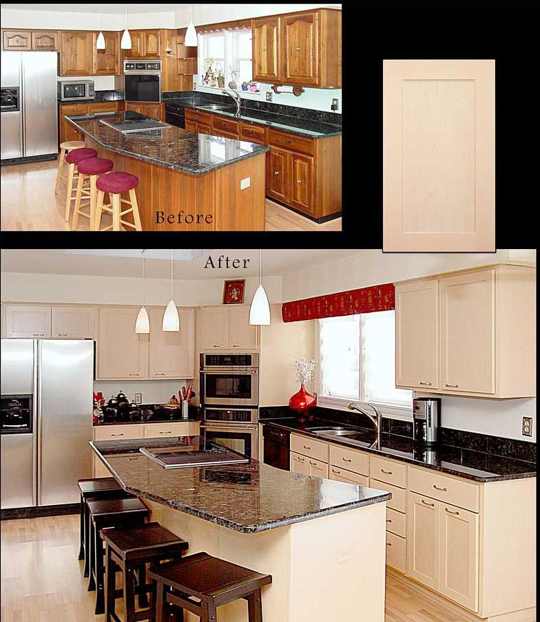 Kitchen cabinet refacing pictures